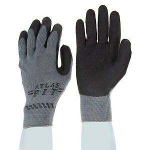 Showa Best Atlas 300B Black Rubber Dipped Work Gloves, Various Quantities & Size
