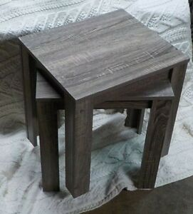 2 Monarch Specialties Contemporary Design Accent Rectangular Side End Table Gray