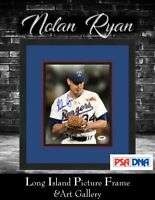 Nolan Ryan Bloody Lip Signed  8x10 Photo Newly Custom Framed PSA/DNA COA