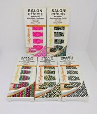 5X Sally Hansen Salon Effects Nail Stickers 5 Patterns 18 Count Ea. Pack New Lot