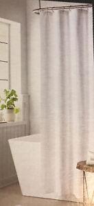 Threshold Shower Curtain Textured Spa White 100% Cotton Standard 100 OEKO-TEX