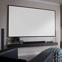 "Zero Edge Free Thin Bezel 4K Ultra HD Fixed Frame Projector Screen 100 120"" 16:9"