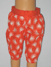 New BABY GAP Size 0-3 Months Orange Poplin Printed Pants