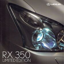 Lexus RX 350 Limited Edition 2007 UK Market Sales Brochure