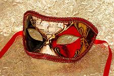 Mens Masquerade Mask - Italian Made - OVERNIGHT to Metro Aust - Ruby Eyes
