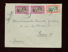 AIRMAIL 1929 FRANCE COLS.SENEGAL SURCHARGES on COVER