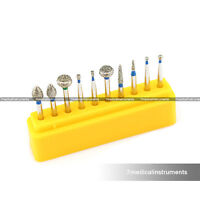 Dental Diamond Burs Set For Molar Repaired 10PCS FG1.6MM