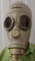 """Polnische Gasmaske Schutzmaske """" MUA """", grau - mit Filter, Schlauch und Tasche"""