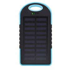 7000mAh Solar Battery Power Bank, LED Flash Panel, Dual USB, Blacklight   Blue