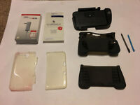 NINTENDO 3DS DS GAME ACCESSORY LOT SET STYLUS SCREEN PROTECTOR charger hand GRIP