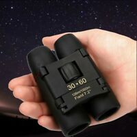 Mini Binoculars 30 x 60 Zoom Outdoor Travel Folding Telescope Bag Night Vision Y