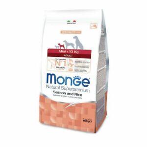 Monge Mini Croquettes Dog Adult <10kg Salmon 800g [ Slice Small]
