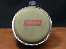 Vintage Coleman Green Canvas Canteen Water Flask