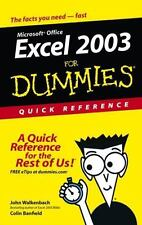 NEW - Excel 2003AFor Dummies Quick Reference
