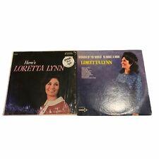 Lorette Lynn Vinyl Records LP Lot VG - Here's Loretta Lynn - Woman of the world