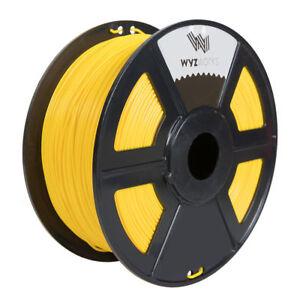 WYZworks 3D Printer Premium PETG Filament 1.75mm 1kg/2.2lb - YELLOW
