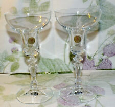 SCHOTT ZWIESEL 24% lead CRYSTAL GERMANY CANDLESTICKS CANDLE HOLDERS 2    EXC