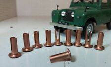 10x Copper Bifurcated Split Rivets Classic Vintage Car Panel Bonnet Canvas Strip