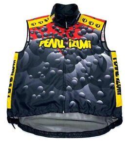 Pearl Izumi Unisex Adults Cycling Vest Yellow Gray Geometric Mesh Full Zipper XL