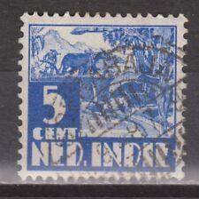 Nederlands Indie 251 CANCEL SOERABAJA 1938 Karbouw Netherlands Indies watermark