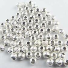 Yz-05 Wholesale Pretty Silver Plated Stardust Spacer Bead 6mm 100pcs