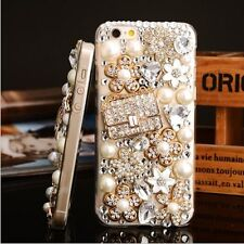 NEW 3D DELUX COOL BLING HANDBAG FLOWER DIAMANTE WHITE CASE FOR APPLE iPHONE 4 4S