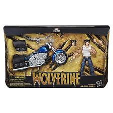 """HASBRO MARVEL LEGENDS 6"""" INCH LOGAN WOLVERINE WITH MOTORCYCLE ACTION FIGURE"""