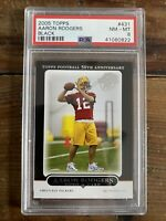 2005 TOPPS Black Aaron Rodgers #431 GREEN BAY PACKERS ROOKIE RC PSA 8 Near MINT