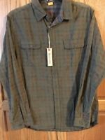 Men's Large Weathered Plaid Reversible Shirt  Old School Brand Company