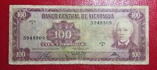 1972 Nicaragua 100 Cordobas, P-126