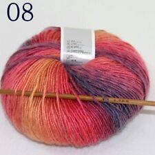 Sale Soft Cashmere Wool Colorful Rainbow Wrap Shawl DIY Hand Knit Yarn 50gr ball