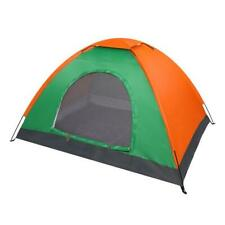New listing 2-Person Waterproof Camping Dome Tent for Outdoor Hiking Survival Orange & Green