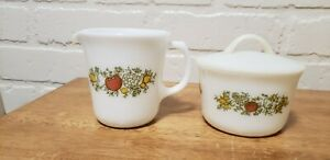 VINTAGE PYREX SPICE OF LIFE CREAM AND SUGAR SET