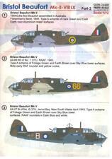 Print Scale Decals 1/72 BRISTOL BEAUFORT Mk.II/VII/IX British WWII Bomber Part 2