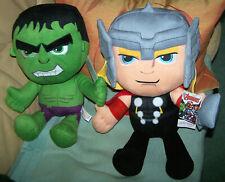 Marvel Avengers Plush Toy 2 x - Thor + Hulk ca.45cm hoch+Tags-used aber sehr gut