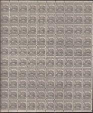 US Stamp - 1938 4 ½c White House - 100 Stamp Sheet - Scott #809