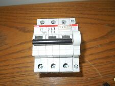 ABB S203 B16 16A 3p 400V Din Rail Mount Breaker w/ S2CH6R Auxiliary Contact Used