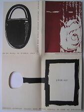 GUINOVART  - Carton d invitation Affiche - 1965