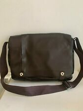 filofax Messenger Bag/Briefcase Architect Collection Brown Leather Crossbody NEW