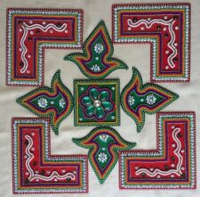Rangoli Floor Decor pattern acrylic kundan Handmade Traditional Designer Diwali