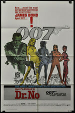 DR. NO  R/1980 BOND 007 ORIG 27X41 MOVIE POSTER SEAN CONNERY URSULA ANDRESS