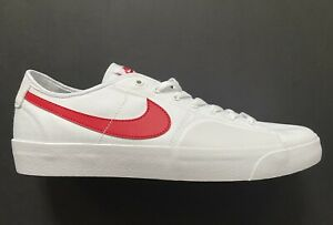 Nike SB Blazer Court White University Red Skate Shoes CV1658-100 Size 11.5