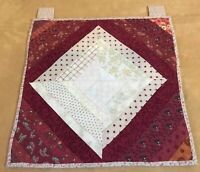 New Pieced Quilt Pattern 88x88 LOG CABIN with  FLORAL Applique