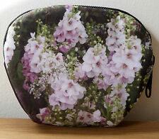 Make Up Bag Pouch Garden Pink Purple Cosmetic Female Gift Floral Accessory Purse
