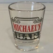 MICHAEL'S BAR personalized shot glass