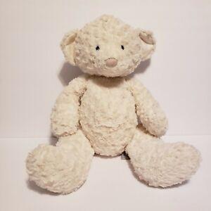 "Jellycat London Meringue Cream Teddy Bear Stuffed Animal Baby Retired Lovey 19"""