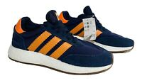 Adidas Originals Boost I-5923 Men's Running Shoes Size 8 Collegiate Navy Orange
