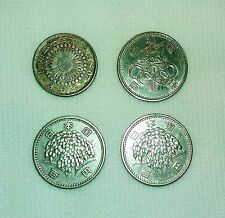 Lot of 4 Japan Silver Coins  Meiji, Olympic etc. - dy-5