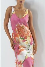 """NEW! N NATORI EXQUISITE """"PAINTED BOUQUET"""" PINK FLORAL NIGHTGOWN / Extra Large"""