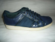 Bravo Travertine Mens Sneakers Low Top Lt Dark Blue Leather Shoes SZ 9